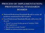 process of implementation professional standards boards