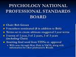 psychology national professional standards board