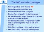the imo emission package