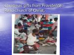 christmas gifts from providence road church of christ