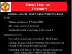 future prospects customers
