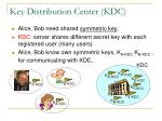 key distribution center kdc