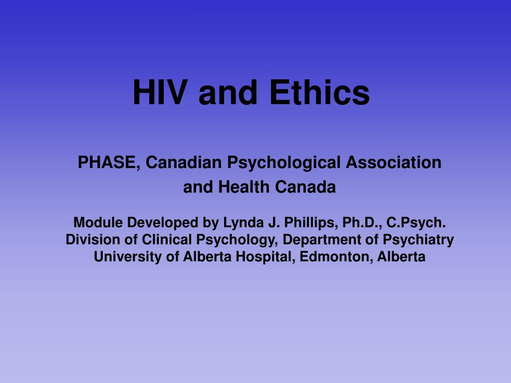 hiv and ethics l.