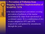 1 prevention of pollution from shipping activities implementation of marpol 73 78