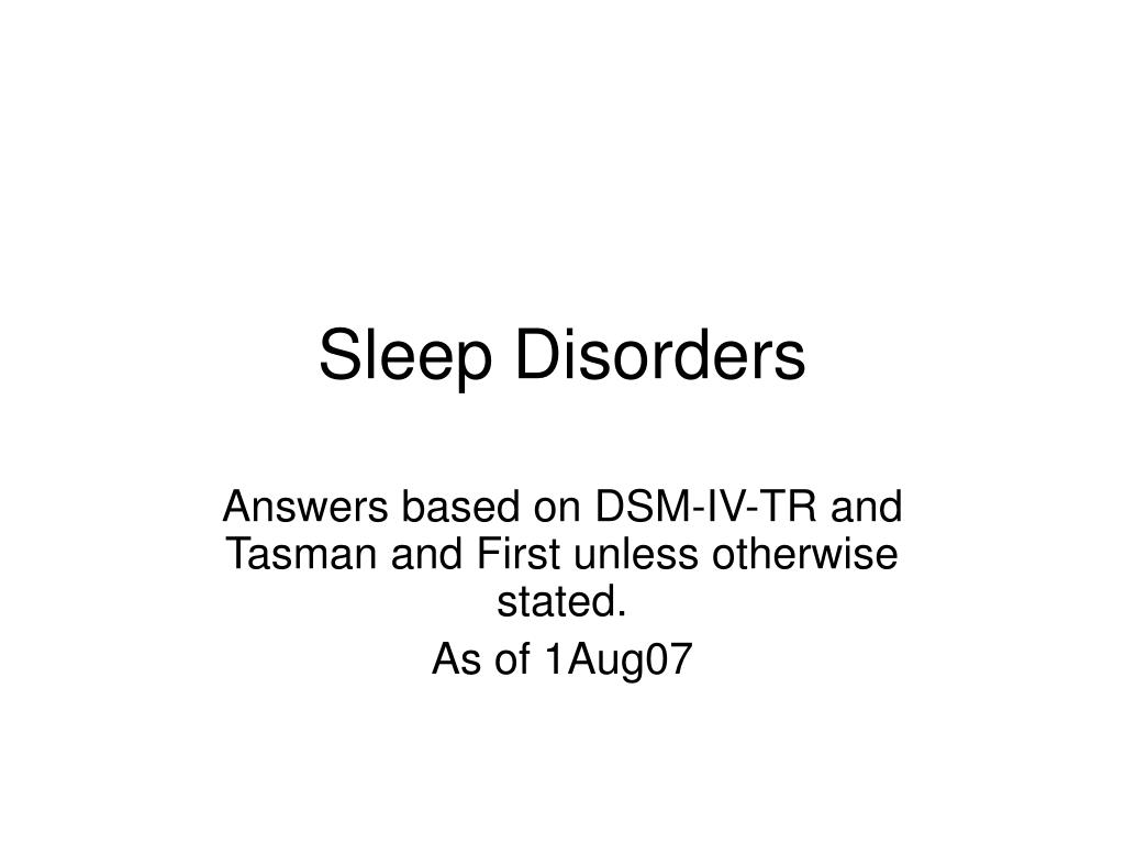 sleep disorders l.