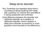 sleep terror disorder37