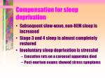 compensation for sleep deprivation