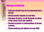 dream research