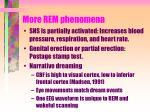 more rem phenomena