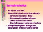 resynchronization