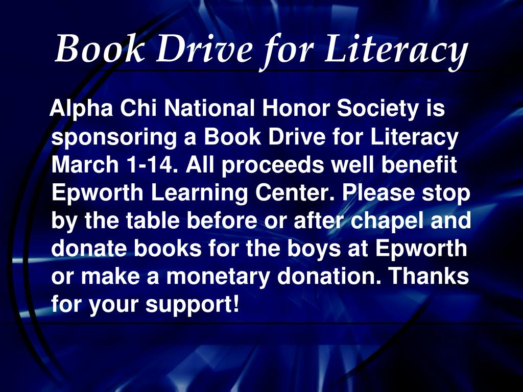 Book Drive for Literacy