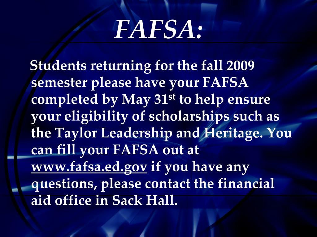 FAFSA: