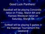 good luck panthers