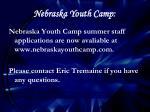 nebraska youth camp