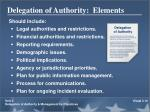 delegation of authority elements