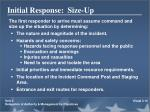 initial response size up