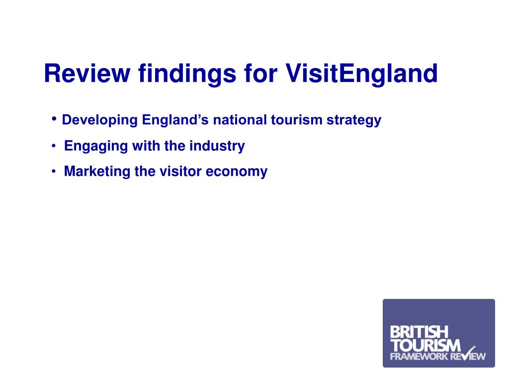 Review findings for VisitEngland