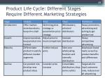 product life cycle different stages require different marketing strategies1
