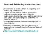 blackwell publishing author services