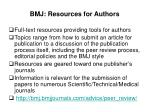 bmj resources for authors