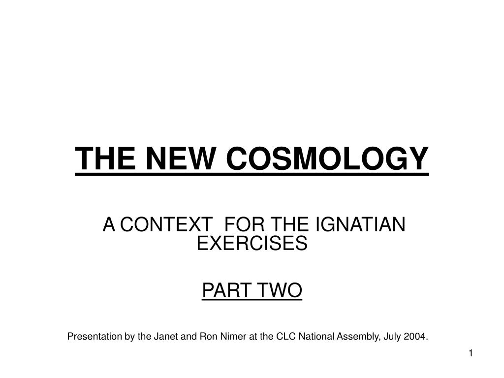 the new cosmology l.