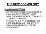 the new cosmology15