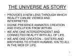 the universe as story