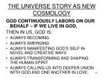 the universe story as new cosmology12