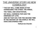 the universe story as new cosmology13