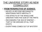the universe story as new cosmology7