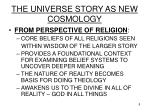the universe story as new cosmology8