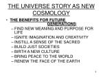 the universe story as new cosmology9