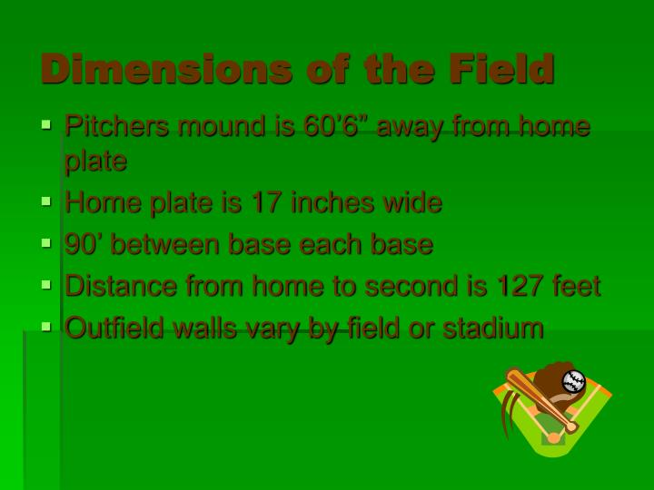 Dimensions of the field