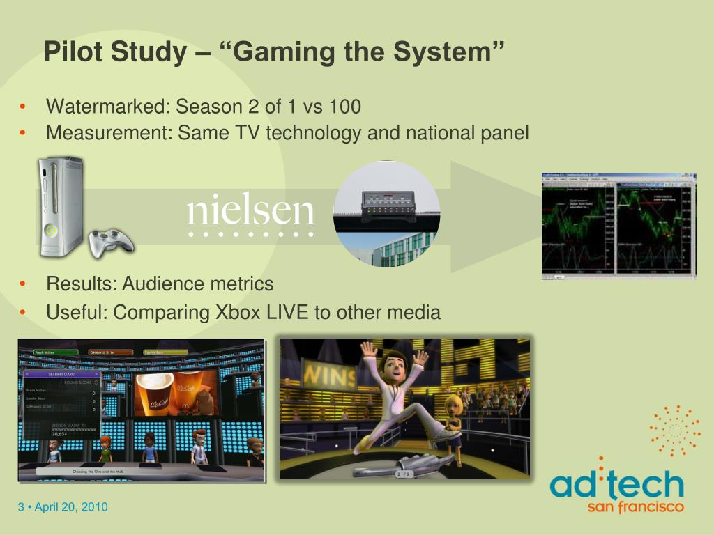"Pilot Study – ""Gaming the System"""