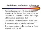 buddhism and other influences