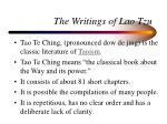 the writings of lao tzu