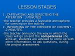 lesson stages