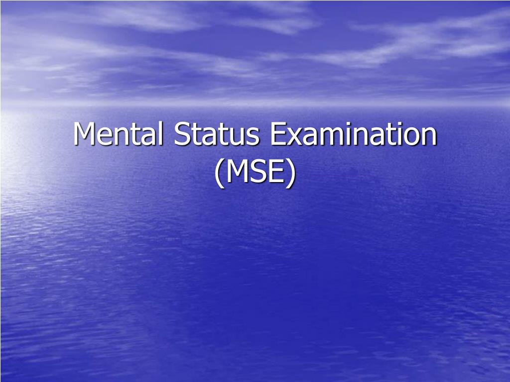 mental status examination mse l.