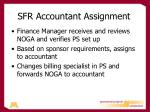 sfr accountant assignment