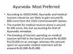 ayurveda most preferred