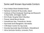 some well known ayurveda centers