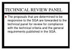 technical review panel