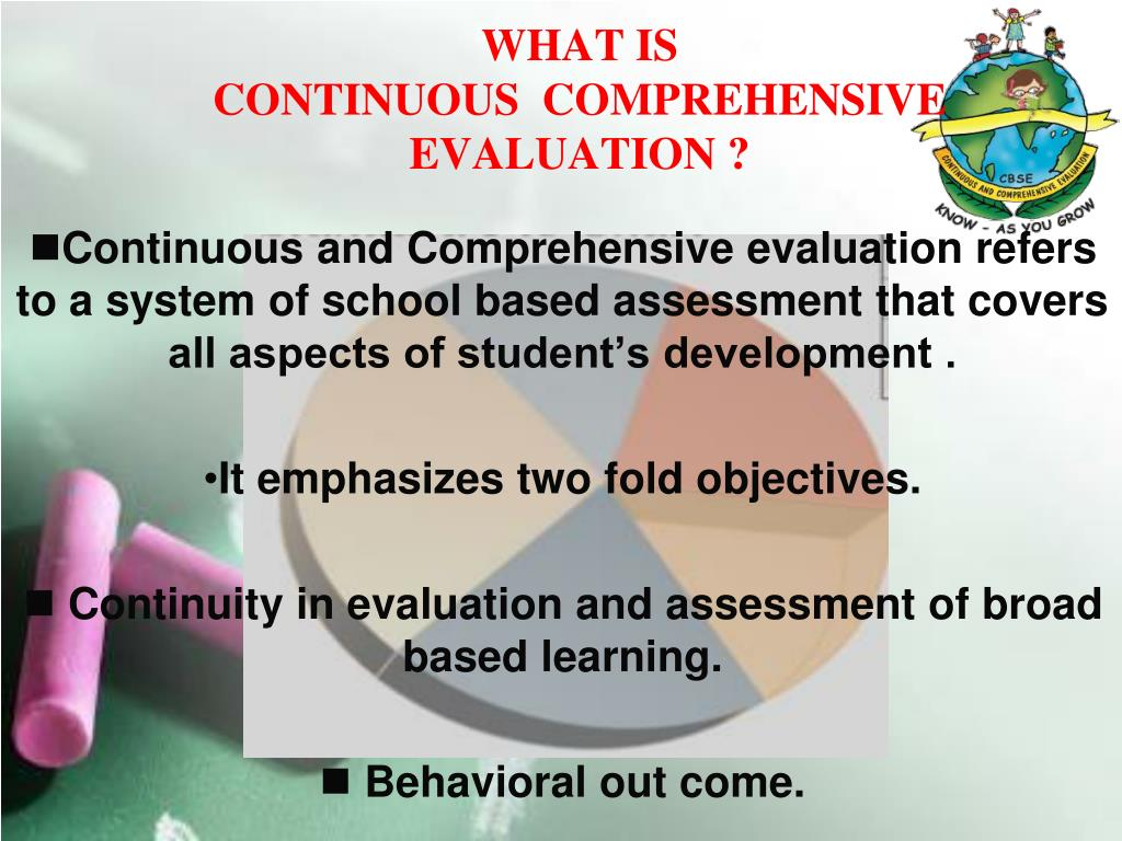 what is continuous comprehensive evaluation l.