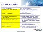 cgeit job roles