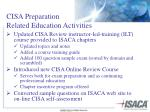 cisa preparation related education activities