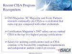 recent cisa program recognition
