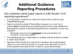 additional guidance reporting procedures35