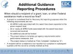 additional guidance reporting procedures37