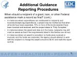 additional guidance reporting procedures38