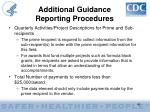 additional guidance reporting procedures40